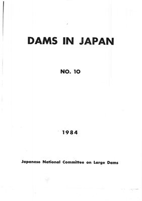 Japanese National Committee on Large Dams. Dams in Japan, No. 10