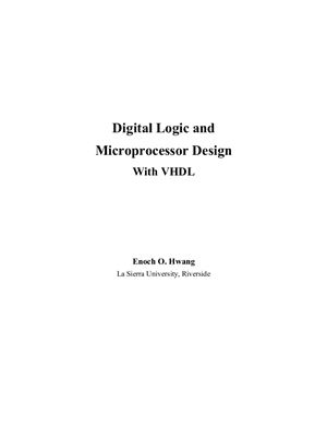 Hwang E.O. Digital Logic and Microprocessor Design with VHDL