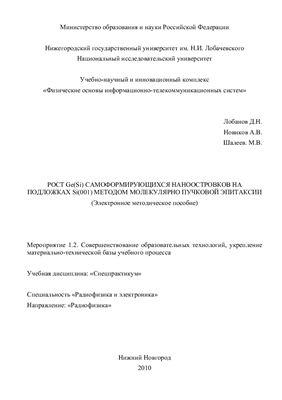 Лобанов Д.Н., Новиков А.В., Шалеев М.В. Рост Ge(Si) самоформирующихся наноотростков на подложках Si(001) методом молекулярно пучковой эпитаксии