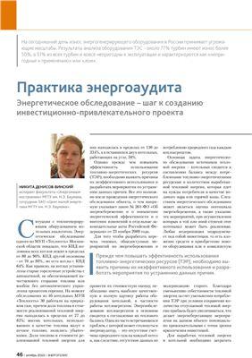 Денисов-Винский Н.Д. Практика энергоаудита