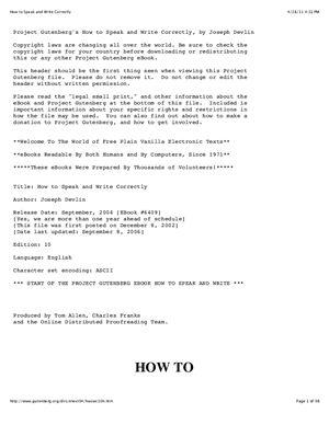 Devlin J. How to Speak and Write Correctly