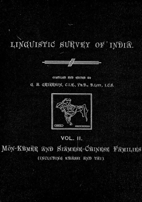 Grierson, George. Lingvistic survey of India, v.2.