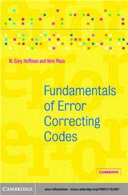 Huffman W.C., Pless V. Fundamentals of Error-Correcting Codes