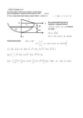 Параграф 9.4 приложение определенного интеграла к решению задач физического содержания. Решены задачи 3 варианта ИДЗ-9.3, № 1.3; 2.3; 3.3 в Word