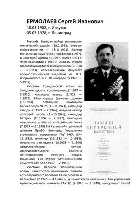 Биография Ермолаева Сергея Ивановича