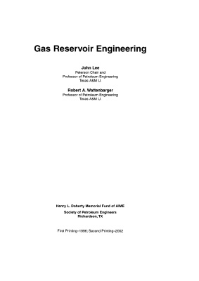 Ли Дж. Инжиниринг газовых резервуаров