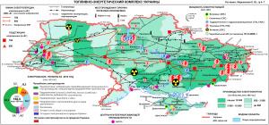 Карта - Топливно-энергетический комплес (ТЭК) Украины
