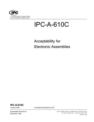 IPC-A-610C Acceptability for Electronic Assemblies
