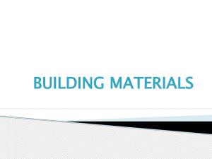 Building materials(строительные материалы)