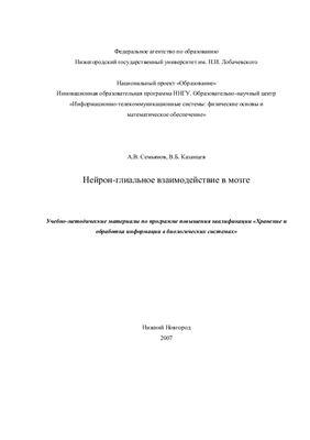 Семьянов А.В., Казанцев В.Б. Нейрон-глиальное взаимодействие в мозге
