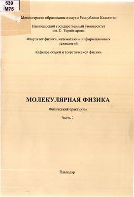 Музалевская H.H., Сагайдак Т.В. Молекулярная физика. Физический практикум. Часть 2