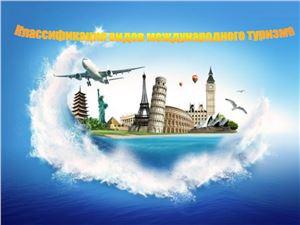 Классификация видов международного туризма