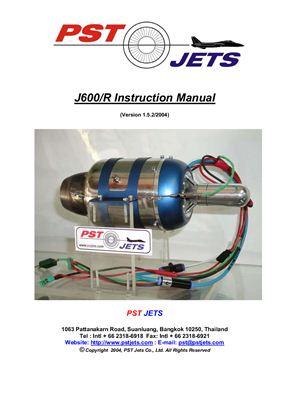 Pst Jets. J600/R Instruction manual
