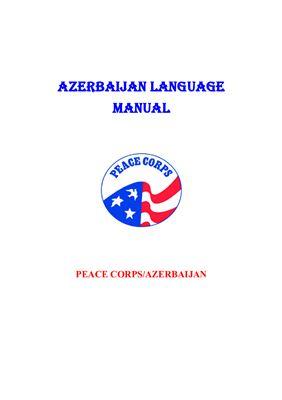 Peace Corps. Azerbaijan Language Lessons