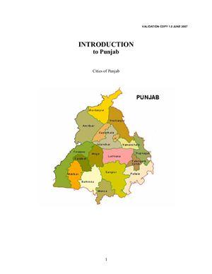 Introduction to Punjabi