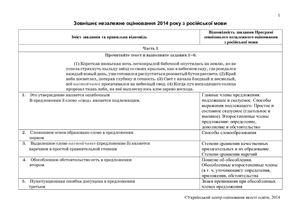 Відповіді ЗНО-2014 з російської мови
