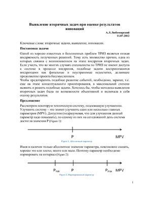 Любомирский А.Л. Выявление вторичных задач при оценке результатов инноваций