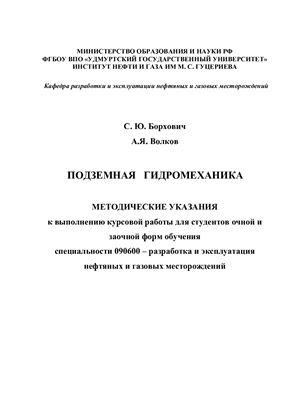 Борхович С.Ю., Волков А.Я. Подземная гидромеханика