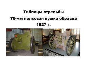 Таблицы стрельбы 76-мм полковой пушки обр. 1927 г