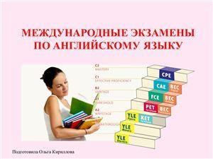 Международные экзамены (тесты) по английскому языку