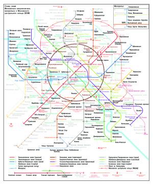 Москва. Схема метро и МЦК в формате AI, PDF, EPS