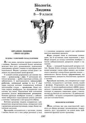 Універсальний довідник школяра Богдан 0330-0354 (Біологія. Людина. 8-9 класи)