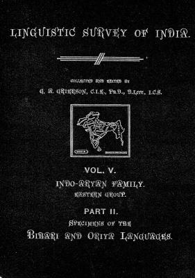 Grierson, George. Lingvistic survey of India, v.5 p.2