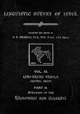 Grierson, George. Lingvistic survey of India, v.9 p.2