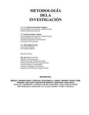 Hernández Sampieri R. Мetodología de la investigación