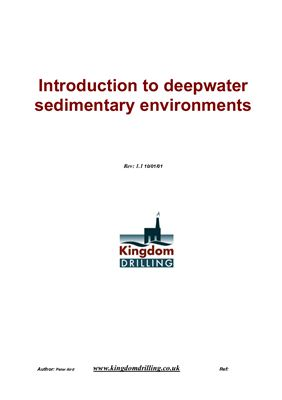 Aird Peter. Introduction to deepwater sedimentary environments