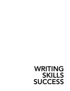 Writing Skills Sucess in 20 Minutes a Day