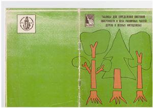 Таблицы для определения листовой поверхности и веса различных частей дерева в лесных фитоценозах