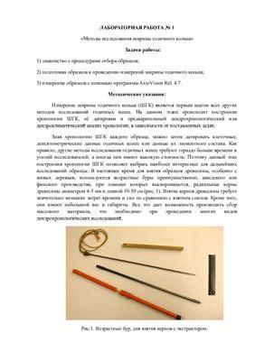 Методы исследования ширины годичного кольца