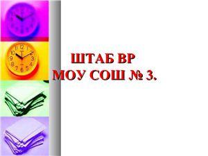 Презентация - Штаб воспитательной работы МОУ СОШ № 3 города Краснодар