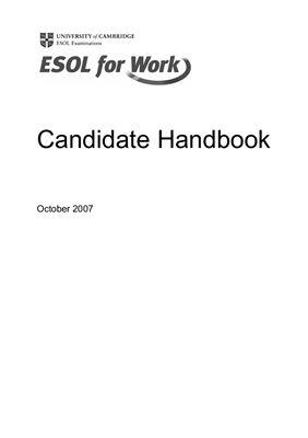 Candidate Handbook For ESOL