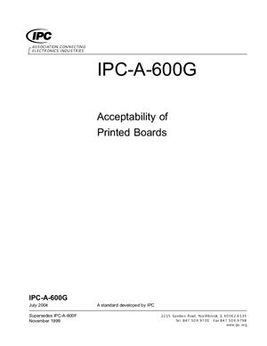 IPC-A-600G-2004 Acceptability of Printed Boards