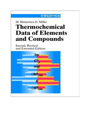 Binneweis M., Milke E. Thermochemical data of elements and compounds