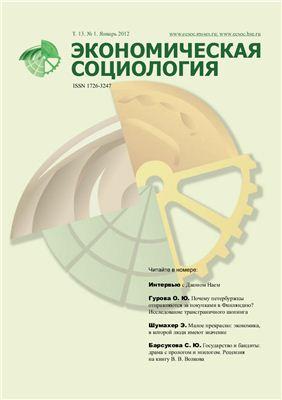 Экономическая социология 2012 №01