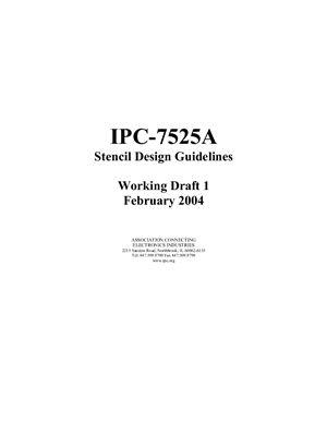IPC-7525A Stencil Design Guidelines