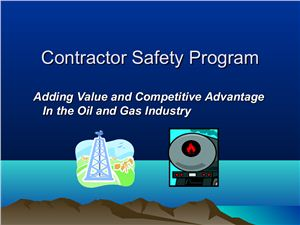 Patrick Garland. Oil Field Contractor Safety
