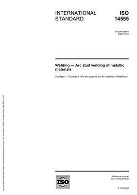ISO 14555: 2006 Welding - Arc stud welding of metallic materials (Eng)