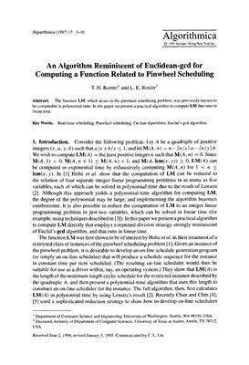 Algorithmica 1997 №17