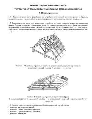ТТК - Устройство стропильной системы крыши