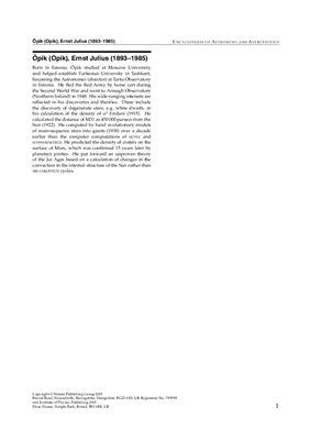 Murdin P. (ed.) Encyclopedia of astronomy and astrophysics