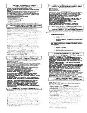 Ответы на вопросы к устному экзамену по обществознанию