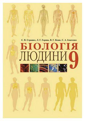 Страшко С.В., Горяна Л.Г. та ін. Біологія людини. 9 клас