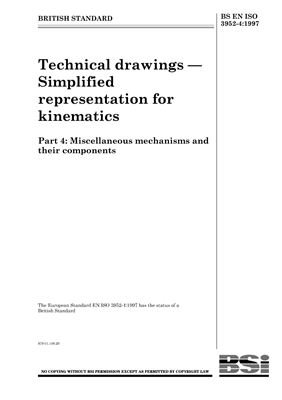 BS EN ISO 3952-1 Kinematic Diagrams-Graphical Symbols, Part 4