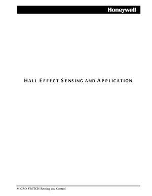 Руководство - Hall effect sensing and application