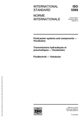 ISO 5598 Fluid power systems and components - Vocabulary