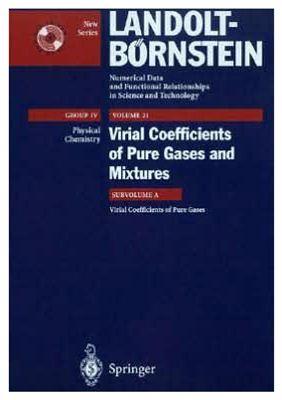 Dymond J.H. e.a. Virial Coefficients of Pure Gases